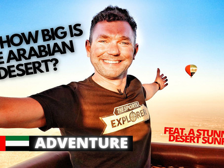 Adventure // Ride over Dubai's Arabian Desert in a Hot Air Balloon // United Arab Emirates