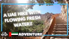 Hiking // This Wadi Shees trail is an amazing oasis in the desert // UAE
