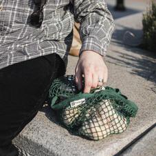 Bottle Green Turtle Bag