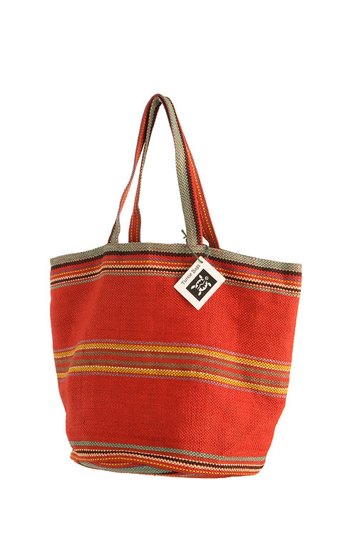 Red Woven Jute Beach Bag (6 per Unit)
