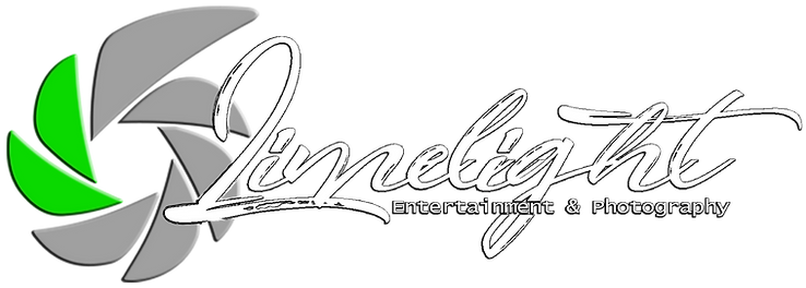 Script logo with shutter white black out