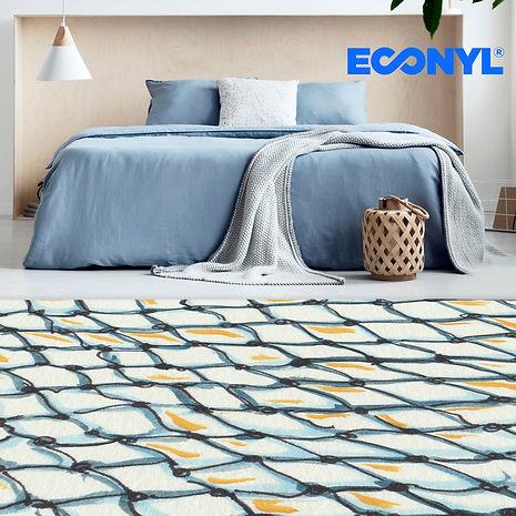 nylon engulfed rug sqaure with econyl lo
