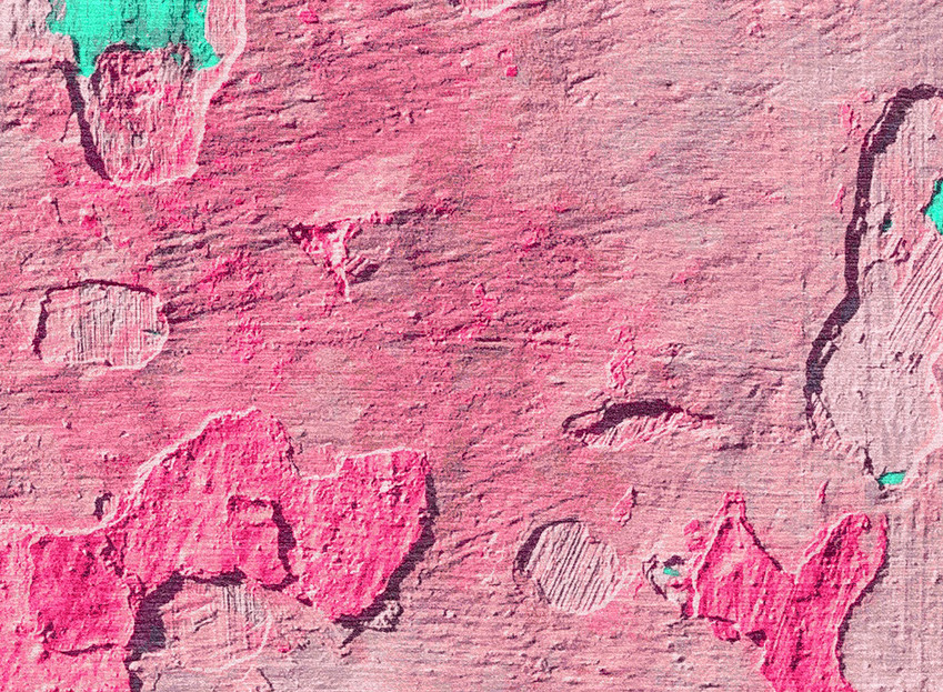 Peeling Paint pink and green Isobel Morr