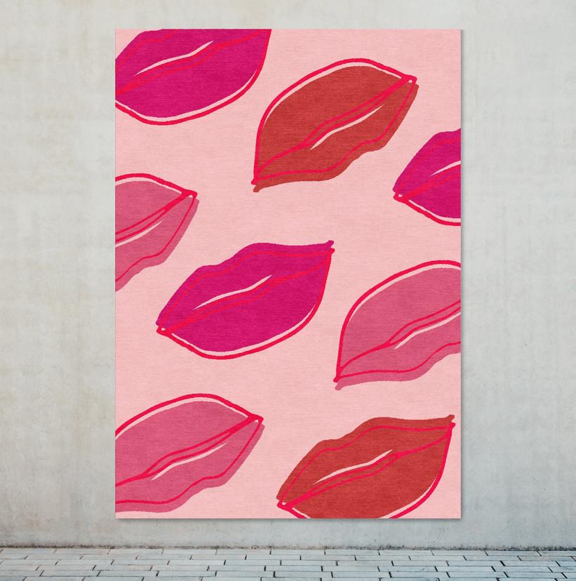 Lips rug on wall LR.jpg