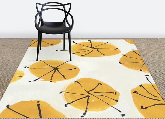 Yellow Circles Rug