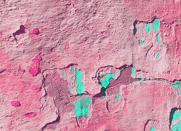 Peeling Pink & Green Rug