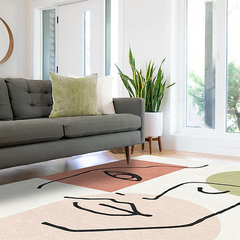 Linear Girl Rug with Grey Sofa LR.jpg