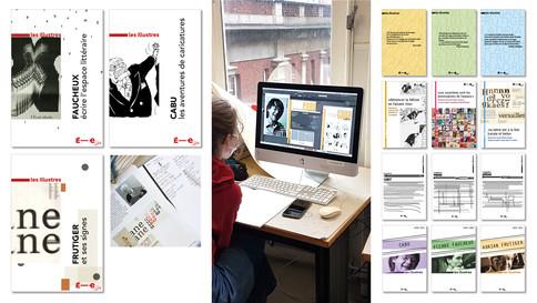 La couverture est la promesse de ce que le livre abrite. Qu'est-ce qu'une collection ? Comment installer une parenté et une identité, quelle est la place de l'individu dans l'ensemble, comment valoriser une ligne éditoriale… le travail de recherche a été développé avec les outils numériques.