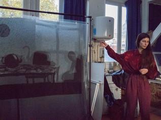 Sujet d'expression plastique sur un texte extrait d'une Vie d'Eugène Savitzkaya, 2ème année, 2019  D'après la description de son auteur, il était demandé de retranscrire plastiquement l'univers sensoriel décrit dans ce texte. Technique, médiums et formats libres.