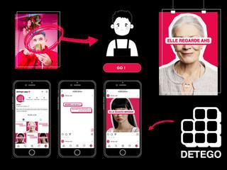 Detego est un réseau social culturel. L'application apporte de l'importance au fait de connaître les utilisateurs plutôt que de baser son opinion sur l'image. Les utilisateurs sont représentés par des avatars et peuvent y rencontrer des partenaires pour des événements culturels.