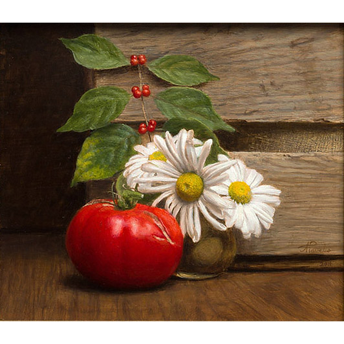 Tomato & Shasta Dasies, 2014