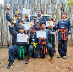 Master Arunraj With Students
