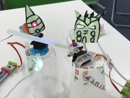 学習塾にて夏休みの親子電子工作ワークショップを開催しました