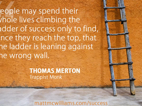 LADDERS of Success: The Way Up Is Down