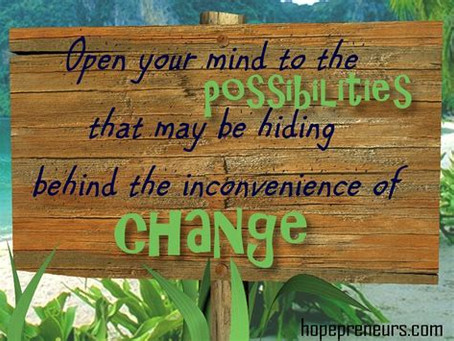 CHANGE THAT HEALS: An Ongoing Cycle of Order…..Disorder…..Reorder…..