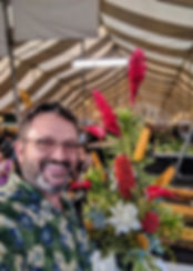 Doug at Kauai Fair Floral exhibition