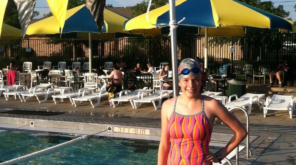 Lauren Bach as a Sigma Swimmer