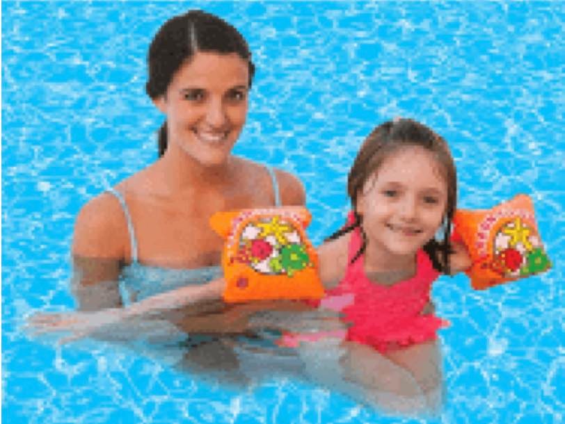 NO: Nearly all floaties, mainly the arm/waist floaties that you just blow up and buy for five bucks are death traps.