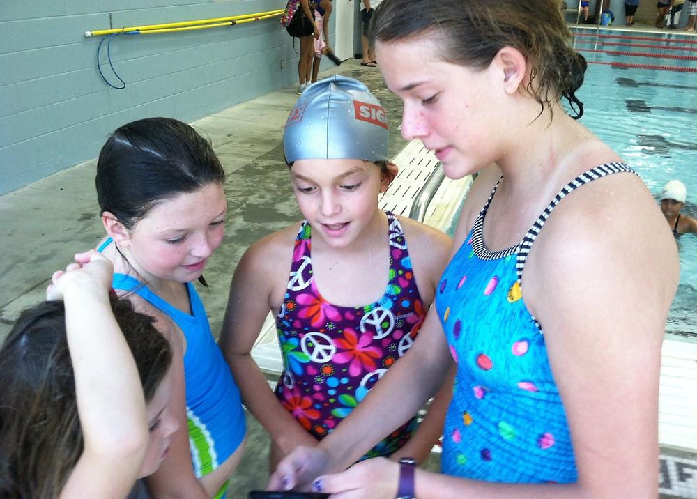 Coach Lauren Bach as a Sigma Swim Instructor