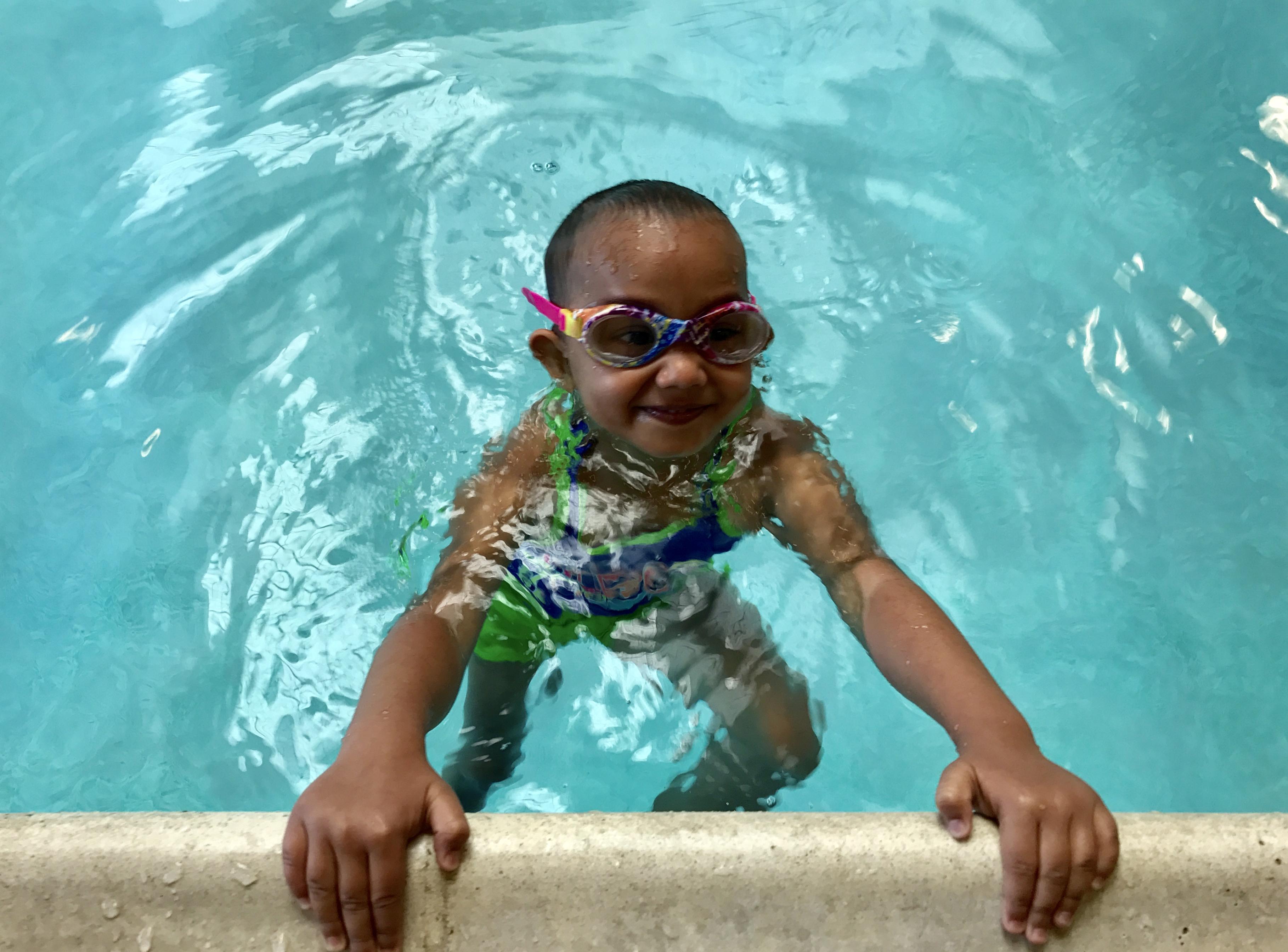 Sigma kids love learning to swim