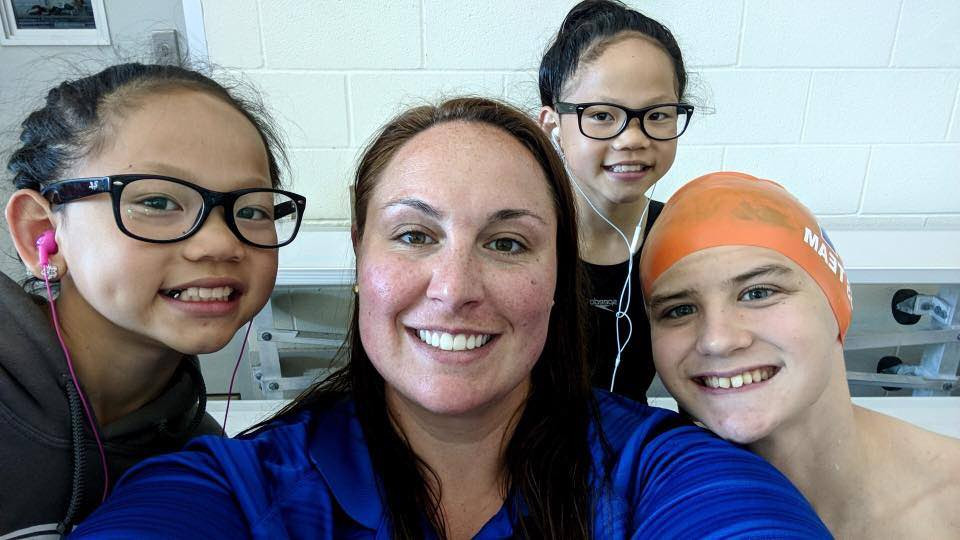 """My favorite thing about being around my swimmers is their personalities! There is such a wide range and we always seem to find humor in even the littlest of things! Going into """"Work"""" always puts me in a better mood because of how amazing the swimmers are!"""
