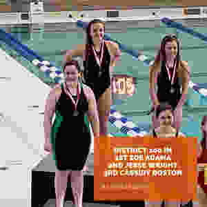 Sigma Swim girls sweep 200 IM in Keller 5A district champs