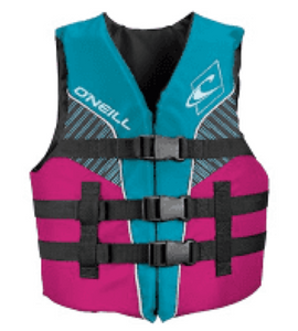 Life vests, that go around the entire torso and close securely. You should only, and I mean only, ever buy a coastguard approved flotation device, and while it may be more money upfront, you are protecting what should be something more important, and that is your child's life and safety. But, just know that not even life vests make kids drown proof and they still require supervision from parents always near any body of water.