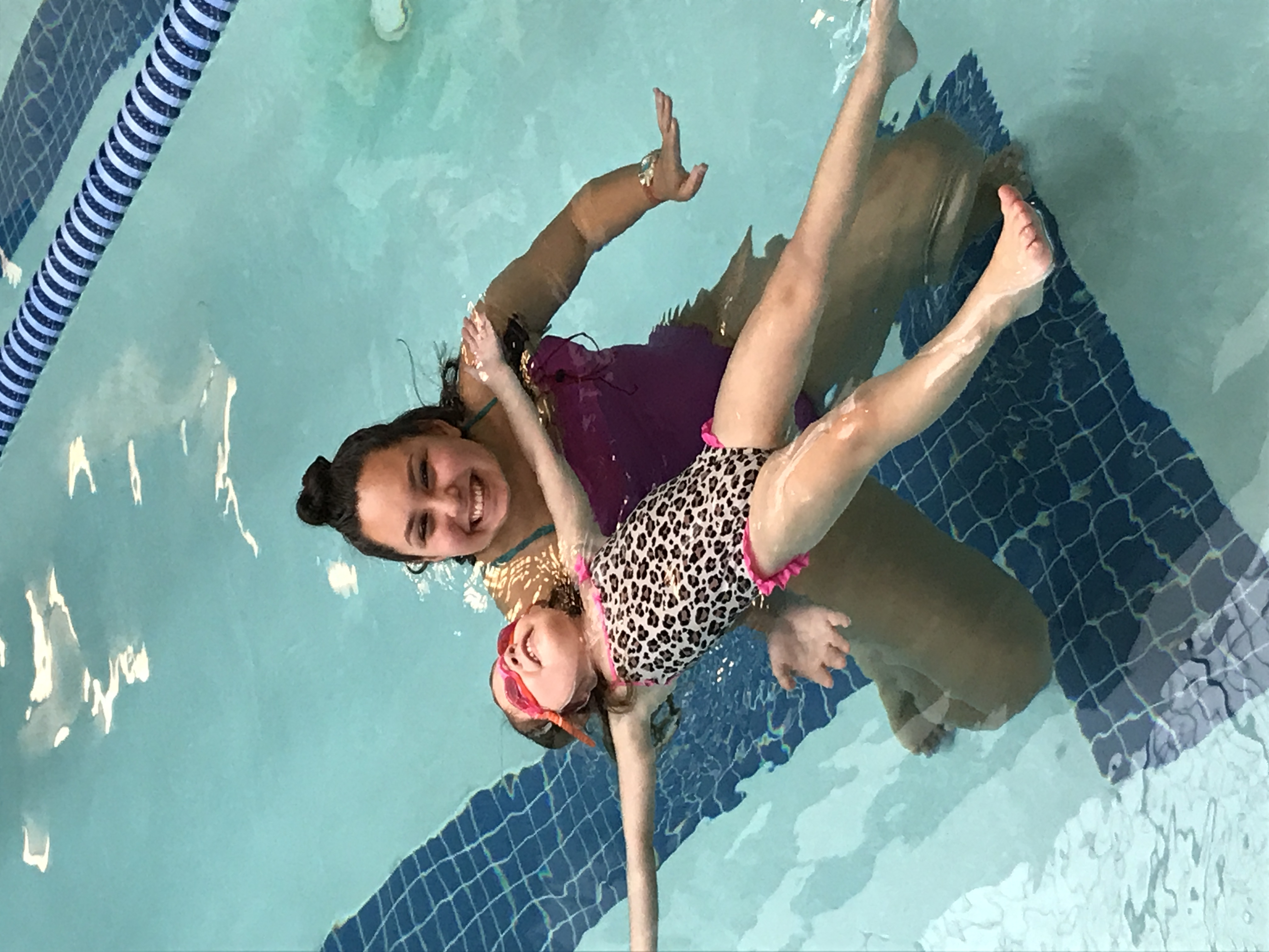 Coach Erina teaches floating