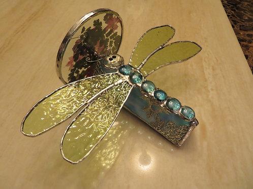Handmade Dragonfly Stained Glass Kaleidoscope