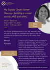 Webinar My Supply Chain Career Journey: building a career across ANZ & APAC!