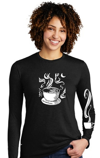 Womens Long Sleeve Latte Art T Shirt