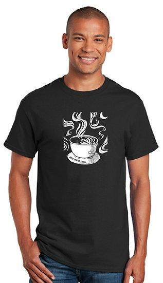 Mens Short Sleeve Latte Art T Shirt