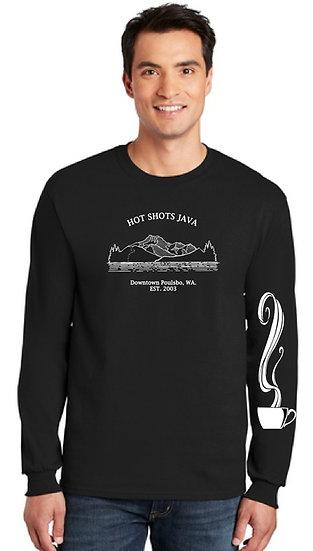 Mens Long Sleeve Mountian T-shirt