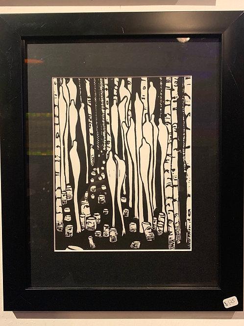 Linograph Print: Figures