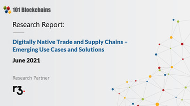 Research Report : Digitally Native Trade and Supply Chains