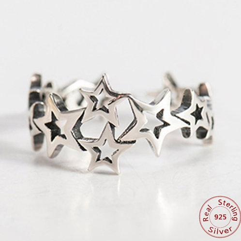 Sternen 925 Sterling Silber Ring