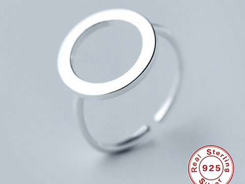 Rund 925 Sterling Silber Ring
