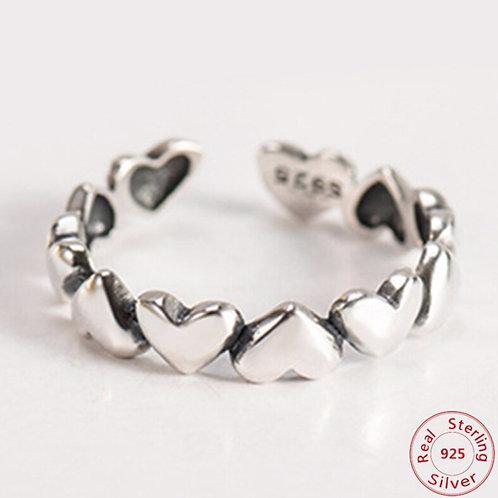 Herz 925 Sterling Silber Ring