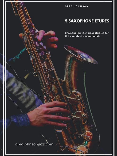 5 Saxophone Etudes (pdf book and mp3 recordings)