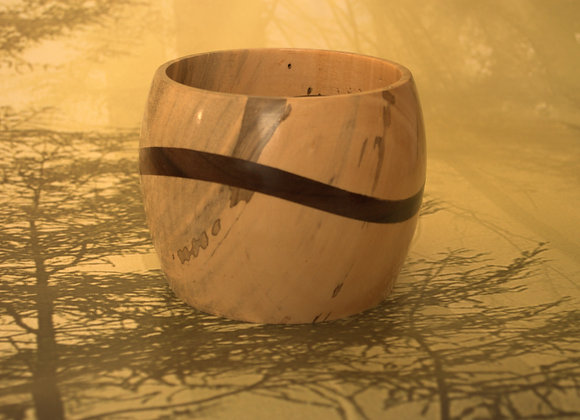 Wave Ambrosia Maple & Walnut Bowl