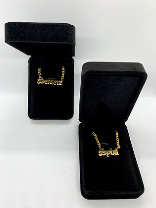 Custom (Gold) Name Plate Necklace