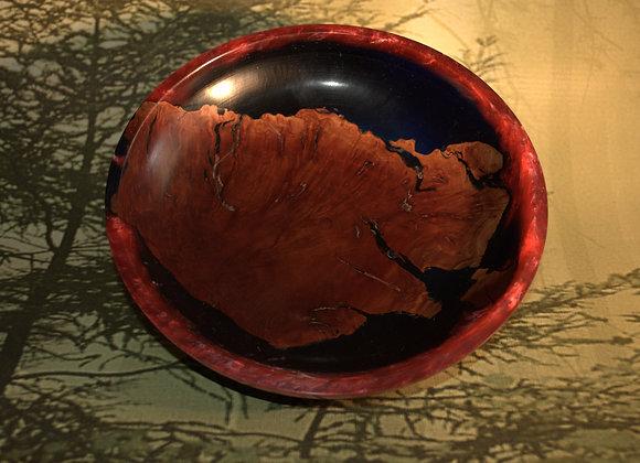 Manzanita and Red Acrylic Bowl