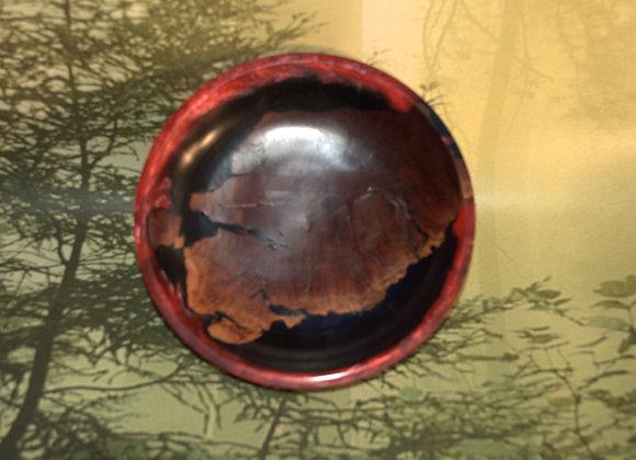 Manzanita Root and Acrylic Inlay Dish