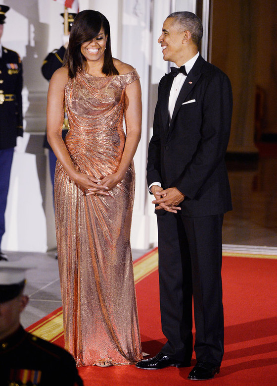 Michelle Obama Glows in a $12,000 Atelier Versace Gown!