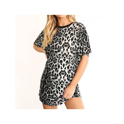 Leopard print tunic top