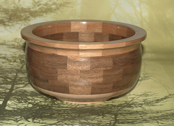 Walnut & Cherry Segmented Bowl