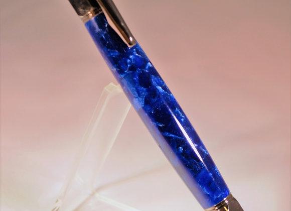 Blue Acrulic Click Pen