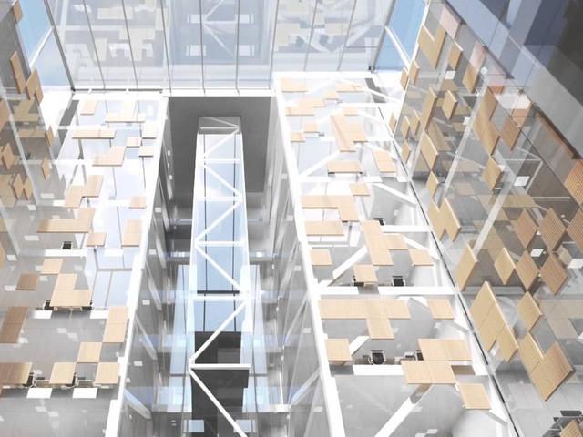 Filmen om kontoret ovanpå Mall of Scandinavia – Telias huvudkontor