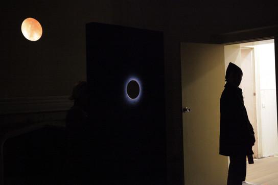 Sabina Maselli, Mask of Hysteria (install shot), 2017, single channel video installation. audio. Photo by Sabina Maselli