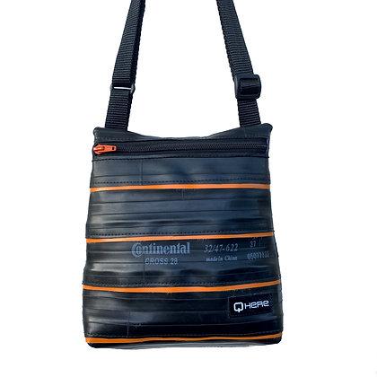 Orange Stripy Shoulder Bag (small)